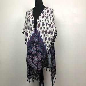 Boho Fringe Kimono - One Size
